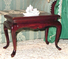 Queen Anne coffee table for 18 inch dolls