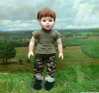 boy soldier doll army, navy
