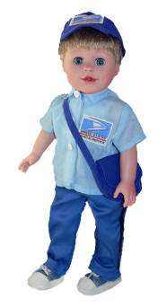 boy doll mailman outfit