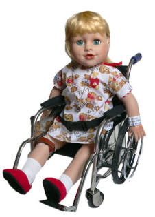 wheelchair with disabled doll