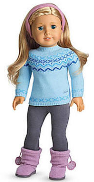 american girl doll real fair isle sweater set