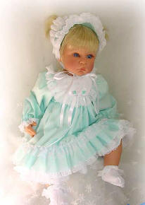 Aqua with ruffles baby doll clothes