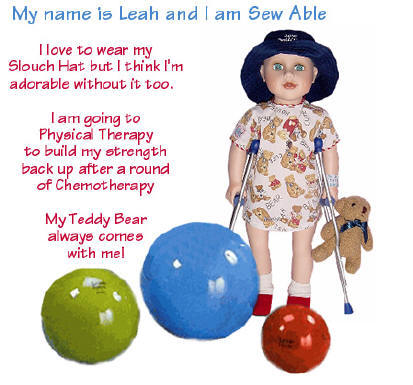 Sew Able Play Therapy chemo dolls