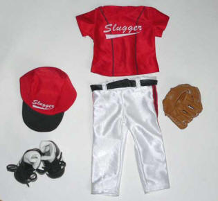 baseball doll red outfit