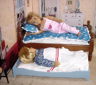 "Wood doll beds for 18"" dolls"
