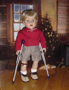 Boy Doll with Crutches