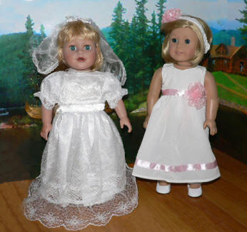 Bridal & confirmation dress for american girl dolls