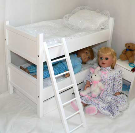 Dol Furniture Bunk Beds Best Quality Doll Size Bunkbeds With Trundle Bed