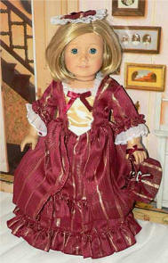 red colonial dress for your american girl doll