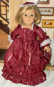 Colonial dress for american girl dolls