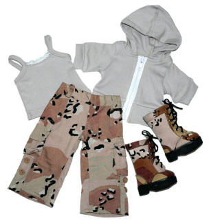 camouflage army doll clothes