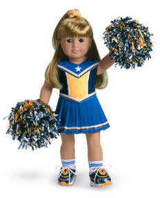 American Girl Authentic Cheerleading Outfit