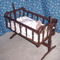 doll cradle for Berenguer Reborns, Middletons, Bitty Baby