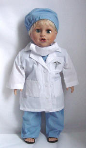 boy doctor doll in boy clothes