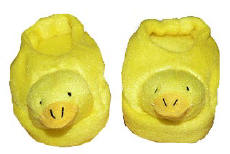 """Just Ducky"" doll slippers"