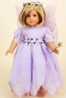 "Angel fairy outfit for your 18"" doll"