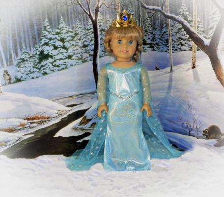 Doll dress like Elsa on the movie Frozen®
