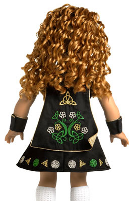 fec487cbb1a ... American Girl Irish Costume Dance. AG Irish dance costume and Doll wig