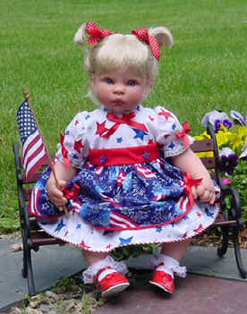4th of july dress baby doll