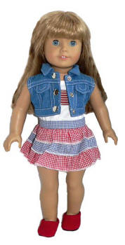 Summer outfit: 4th of July Doll Outfit