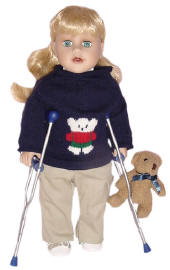 autistic doll using crutches, says they were free for everyone to play