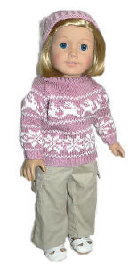 handmade doll sweater