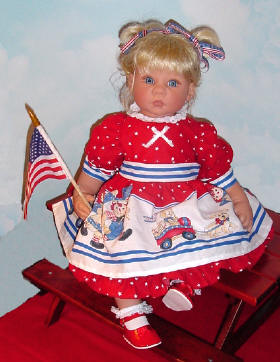Fourth of July baby doll dress