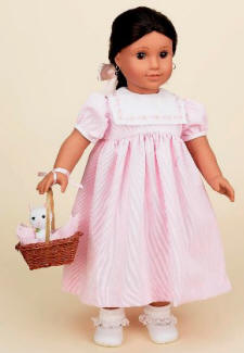 pink dress for american girl dolls