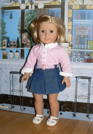 a4c593c7e8 Pink Shirt and Denim Skirt Set for 18 inch dolls · Cargo pants ...