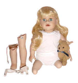 Sew Able amputee dolls, play therapy, 18 inch doll