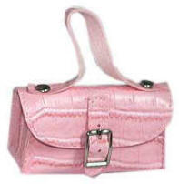Pink faux crocodile fashion purse for dolls