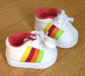 Rainbow tennis sneakers