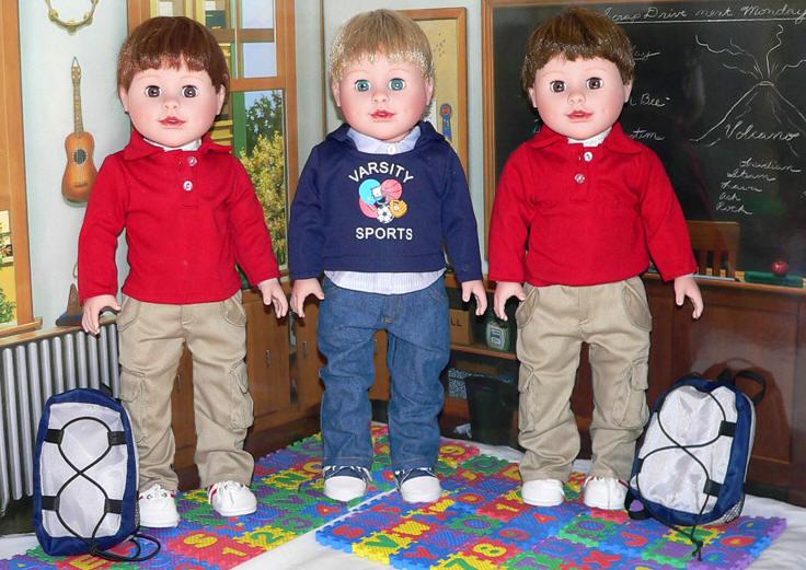 "Boy's Black Space Long sleeve shirt Fits American Boy Girl 18/"" Doll Clothes"