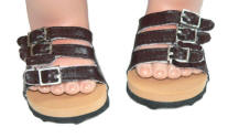 Brown summer sandals