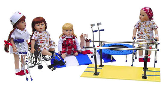 disabled dolls help children with difficult physical therapy