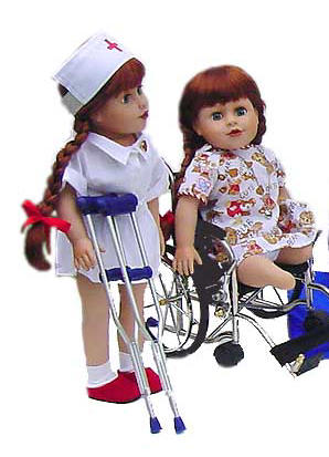 play therapy dolls disabled children