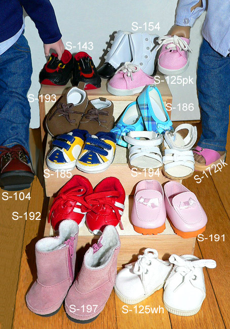 b740e8a07f54 Doll Shoes, Sneakers, Socks! Footwear For Dolls, Adorable American ...