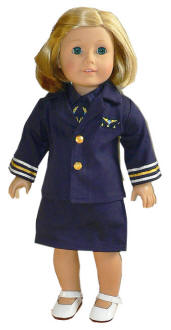 stewardess doll clothes american girl dolls