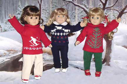 Holiday Sweaters for dolls