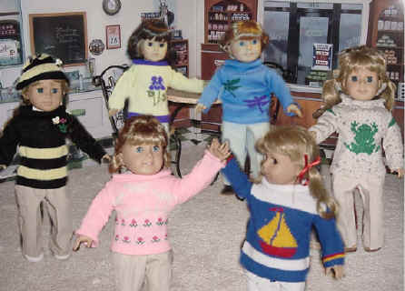 sweaters and clothing for 18 inch dolls