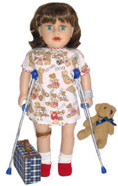 doll who fell off bike needs to mend but feels disabled