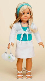 american girl doll teal dressy clothing