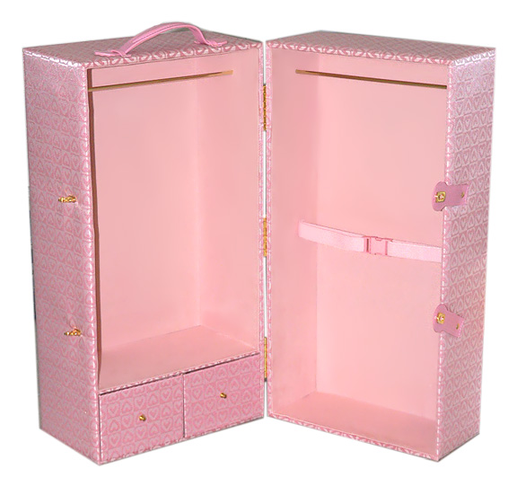Trunk To Fit American Girl And Sew Able Dolls · Doll Trunk With Pink Hearts  ...