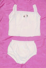 doll underwear set - white