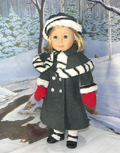 winter coat for Kit american girl doll