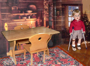 Table and Chair furniture like Kit doll