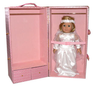 pink heart trunk fits american girl kit inside
